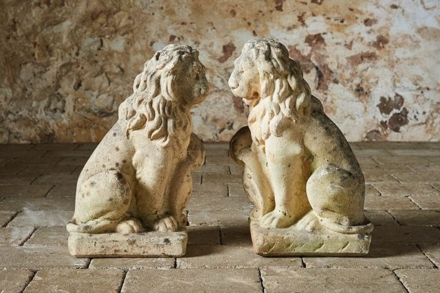 Seated Lions