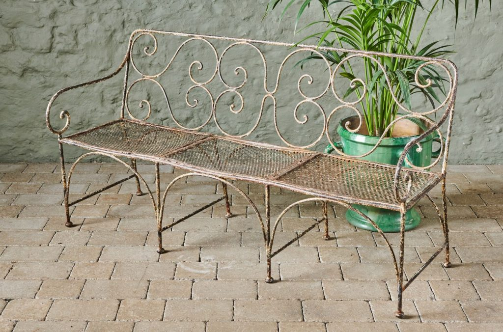 Create a wonderful outdoor living space with this Bordeaux Bench from Violet Grey, part of our range of antique garden furniture.