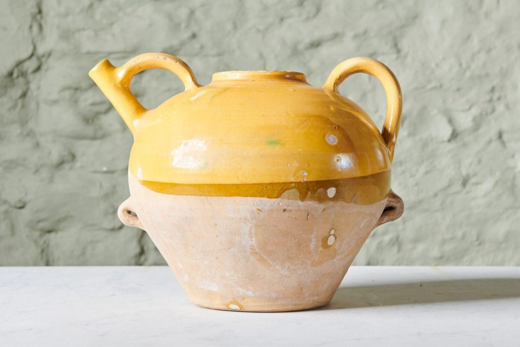 Yellow Olive Oil Jug