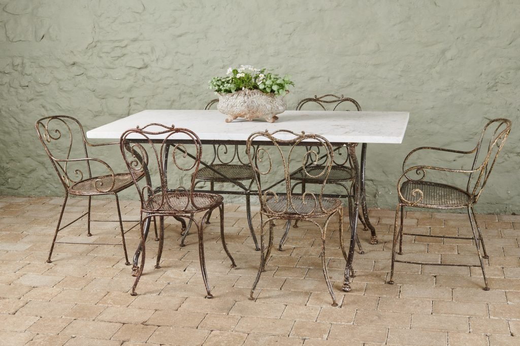 19th Century Garden Table & Chairs