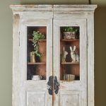 Hand Painted White Bookcase-3