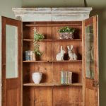 Hand Painted White Bookcase-4