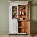 Hand Painted White Bookcase-1