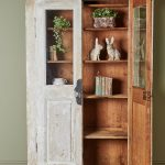 Hand Painted White Bookcase-2