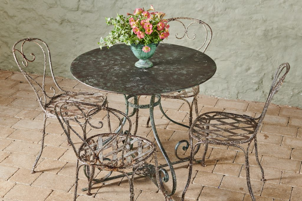 19th Century Garden Table and Chairs