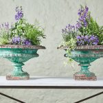 Rare 18th Century Green Urns