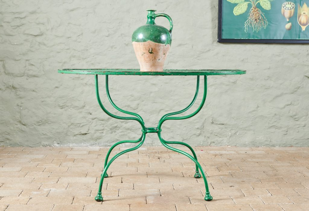 Green Oval Table