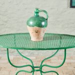 Green Oval Table-1