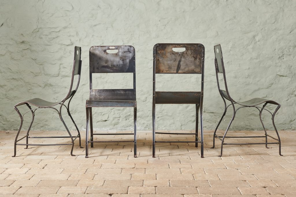 Rare 1920's Metal Chairs