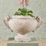 Large Pair of Stone Planters-1