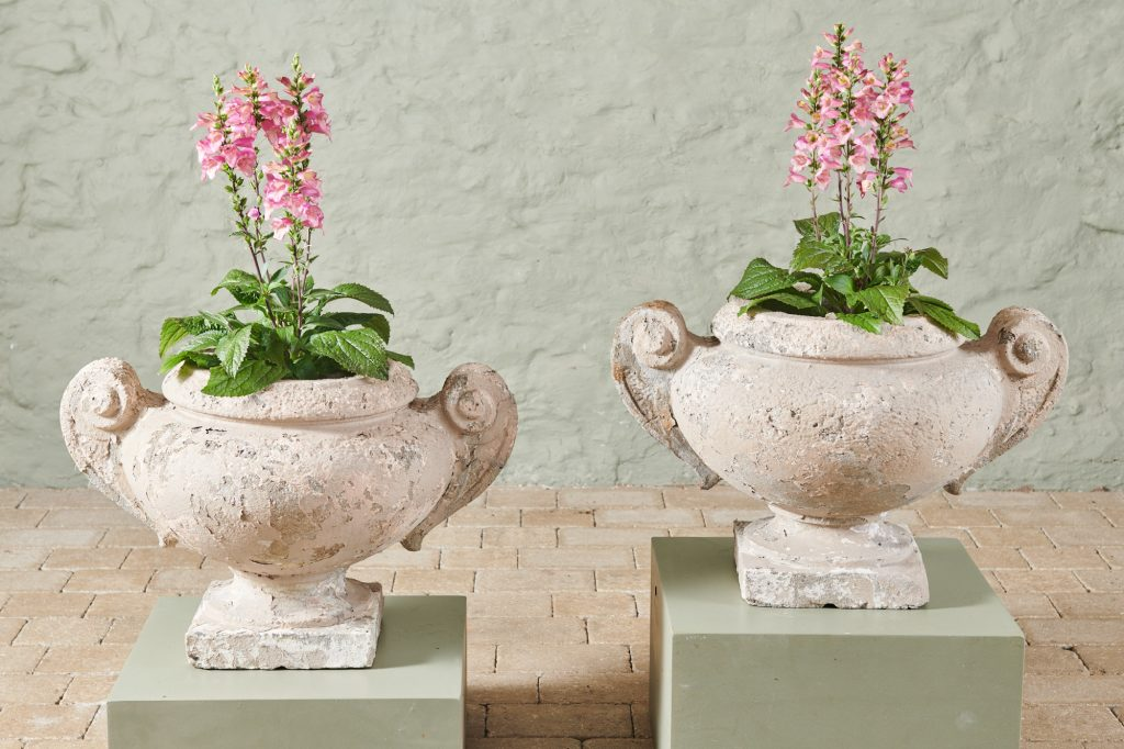 Large Pair of Stone Planters