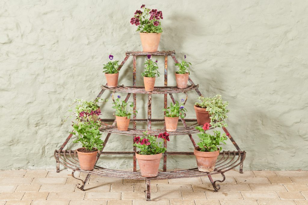 metal antique pots and planters
