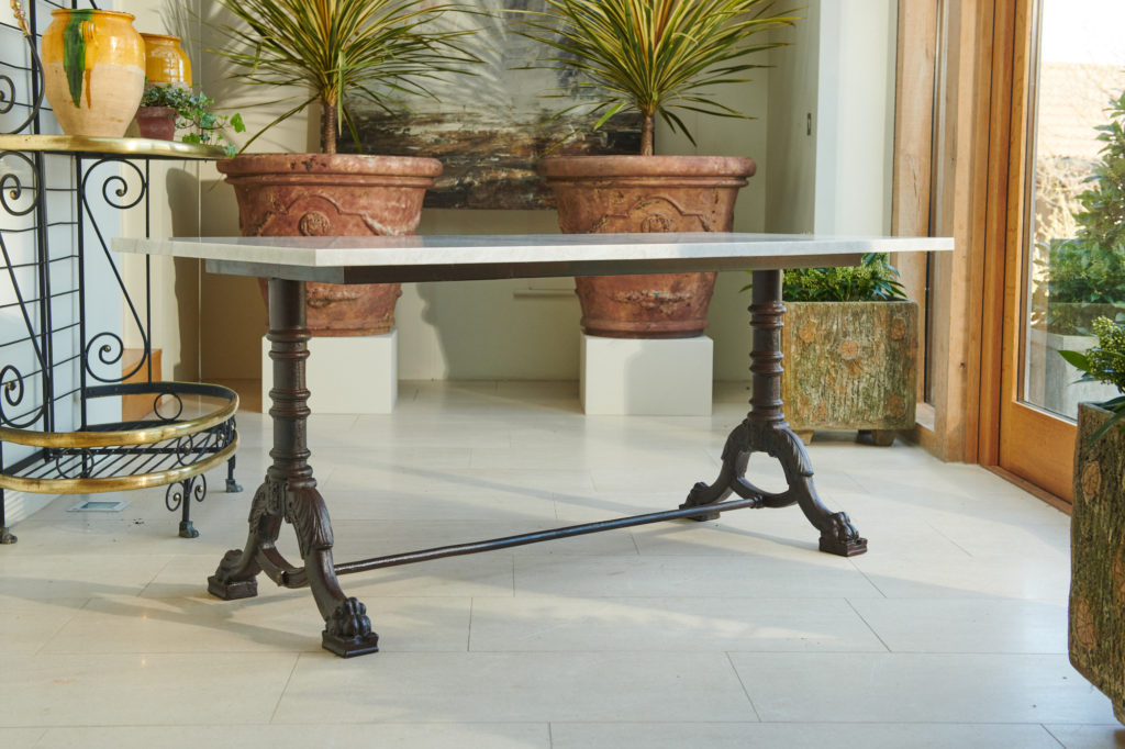 French Cast Iron Table