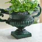 Pair of Dolphin Handled Urns-1