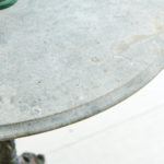 Round Cast Iron Table with Stone Top-2