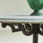 Round Cast Iron Table with Stone Top-3