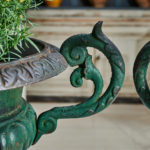 Pair of Dolphin Handled Urns-5